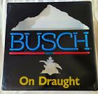 """Vintage Busch Beer On Draught Mountains Logo Light Box Faux Neon Sign 18x18"""""""
