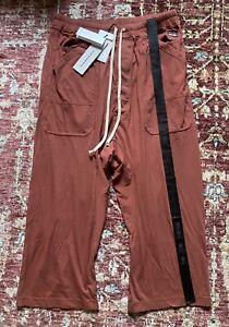 Rick Owens DRKSHDW Drawstring Drop Crotch Cropped Pants Size L RRP £300.00