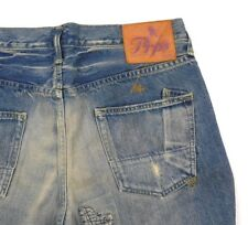Mens PRPS Jeans Size 34 Made in Japan Button Fly Straight Leg Distressed