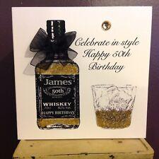 Grand-Père Carte d/'anniversaire Messieurs whisky verre Papy Male Papa
