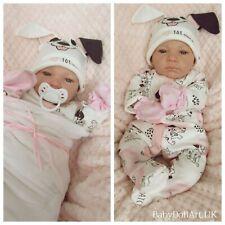 "Reborn Baby GIRL Doll , Newborn 18"" Awake Baby Roxie 4lbs , UK ARTIST"