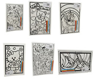 6 Velvet Colouring Picture Boards adult or child Colouring  Boards