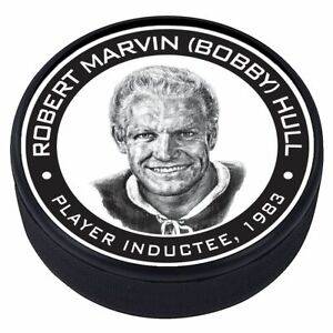 Bobby Hull Chicago Blackhawks 1983 Hall of Fame Induction 3D Textured Puck