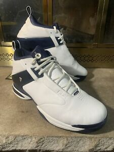REEBOK FRANCHISE White Blue STEVE FRANCIS #3 Basketball Shoe Mens Size 10.5