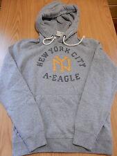 NWT Mens AMERICAN EAGLE Applique Hoodie Sweatshirt Pull-Over Gray