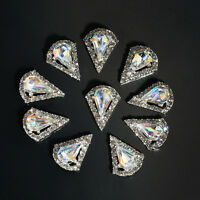 3D Glitter 10pcs Nail Art Tips Decoration Rhinestone Alloy Jewelry Charm Set U