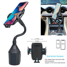 Car Cup Holder Phone Mount Longer Neck & 360° Rotatable Cradle for Apple iPhone