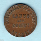 Australia Token . Hanks & Co - 1857 1d.. Sydney NSW.. VF
