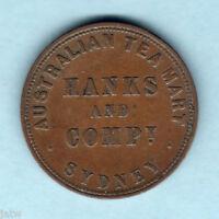 Australia Token . Hanks & Co - 1857 1d..  Sydney NSW..   VF
