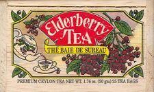 Elderberry Tea - 25 Bags - Decorative Wooden Box