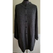 J. Jill Women Charcoal Button Front Cardigan Size 4X NWT $159