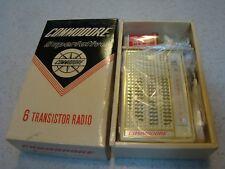 Vintage Commodore Superlative 6 Transistor Radio Model TW-60  NEW IN BOX