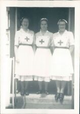 1950's British Red Cross Society Nurse's In Uniform 3.5 x 2.5 inches