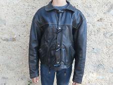 Blouson cuir  noir Ado taille 1 XS de marque GIORGIO PARIS BAS PRIX !!
