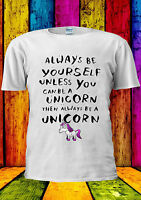 ALWAYS BE YOURSELF UNLESS Unicorn T-shirt Vest Tank Top Men Women Unisex 1751