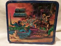 """VINTAGE 1984 """"HE-MAN AND THE MASTERS OF THE UNIVERSE""""  METAL LUNCH BOX BY ALADDI"""