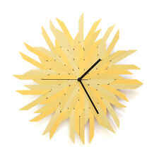 """Haystack gold - 16"""" organic wall clock made of gold painted plywood by ardeola"""
