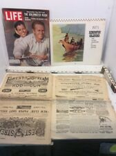 Miscellaneous Paper Lot F Remington Calendar, Life Magazines