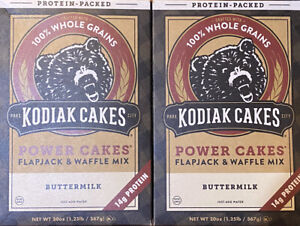 *2* Kodiak Cakes Power Cakes Flapjack & Waffle Mix Buttermilk 20 oz Ea Exp 11/21