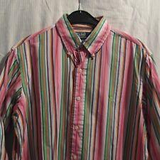 Polo Ralph Lauren camisa Custom fit a rayas kw39 talla M button down