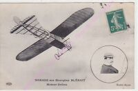 CPA AVION PLANE AVIATION MORANE sur monoplan Blériot moteur Gnôme ca1910