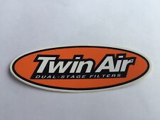Twin Air Filter Oval Sponsor Decal Sticker Motocross MX Enduro Bike ATV - Small