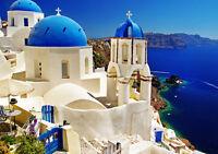 """GREECE SANTORINI OIA NEW A1 CANVAS PRINT POSTER FRAMED 33.1""""x23.4"""""""