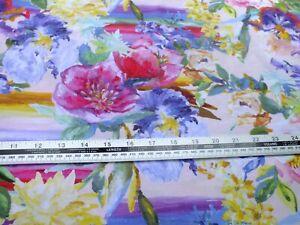 2 meter piece .100 % cotton poplin multicolored floral