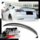 For 2017-2021 Tesla Model 3 Carbon Fiber OE Style Rear Trunk Spoiler Wing US