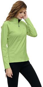 Men 1/4 Zip Golf Polo Shirt Long Sleeve Top Tee Performance Quick Dry Shirt