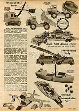1960 PAPER AD Eldon Toy Truck Cement Mixer Auto Transport Shovel Nylint Hubley