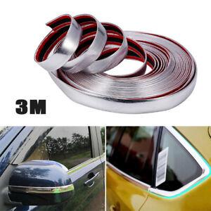 3M Car SUVs Chrome DIY Moulding Trim Strip For Grille Window Door Bumper Kit