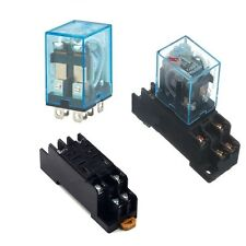 AC 220V DC12V Coil Power Relay 8Pin 10A DPDT LY2NJ HH62P HHC68A-2Z Socket Base N