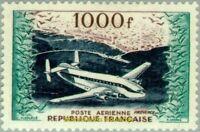 "EBS France 1954 Airmail - Bréguet ""Provence"" 1000 Franc YT PA33 MH*"