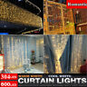3x3 6X3M 600LED 8Modes Fairy Curtain String Light Hanging Backdrop Icicle Lights