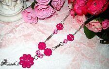 Women Design Party Fuchsia Necklace Collar new