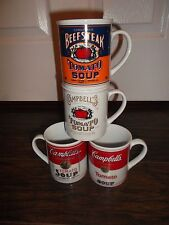 Set of 4 Campbell's 125th Anniversary Tomato Soup Mug Collection ~ New In Box