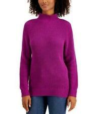 MSRP $50 Style & Co Cotton Mock-Neck Sweater Purple Size XL NWOT