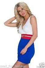 Sexy Ärmellos Mini Kleid in bunte farben. UK 8/10 EU 36/38