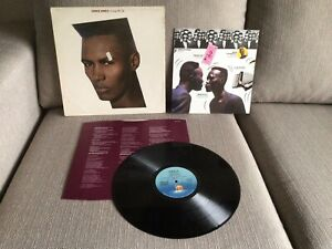 grace jones Living My Life vinyl 1982 Lp With Picture Pull Out New Wave