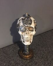 Skull With Gears & Screws Skeleton Head Figurine Collectible Statue Decor