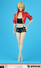 """1/6 Scale Punk Girl Red Leather Jacket Shorts Set For 12"""" Female Figure Doll"""