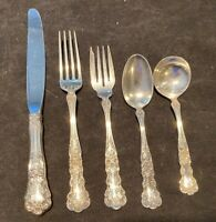 Gorham Buttercup Sterling Silver Flatware Set Service for 4 BY 5 with 20 pieces