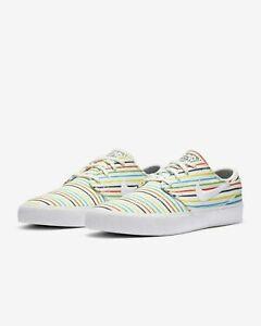 Men,s Nike Zoom Janoski Canvas PRM Shoes sz 9- Athletic - AQ7878 100-Sail White