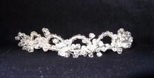 CRYSTAL & SILVER TIARA HEADPIECE, $65, Bridal, Evening, HANDCRAFTED, NEW, Aust