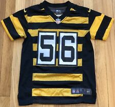 Nike Pittsburgh Steelers NFL Woodley 56 Bumblebee Throwback Jersey YOUTH SMALL