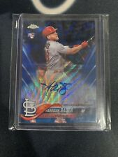 Harrison Bader 2018 Topps Chrome Blue Refractor Auto Rc/150 Cardinals Autograph