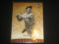 LOU GEHRIG YANKEES GENUINE AUTHENTIC LIMITED EDITION BASEBALL CARD RARE /1999