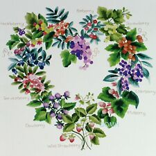 Elsa Williams Wild Berries Crewel Embroidery Kit Elizabeth Golz Rush Heart Wreat