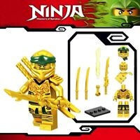 Ninjago Golden Ninja Lloyd Master of Spinjitzu Custom Lego Mini Figure Ninja Toy